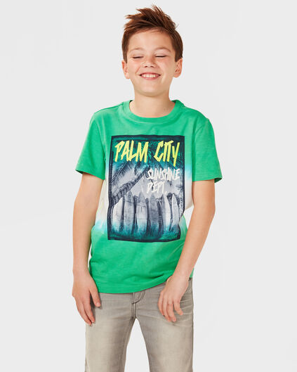 JUNGEN-T-SHIRT IN BATIK-OPTIK Grün
