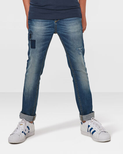 JUNGEN-SUPERSKINNY-JEANS AUS POWERSTRETCH Blau