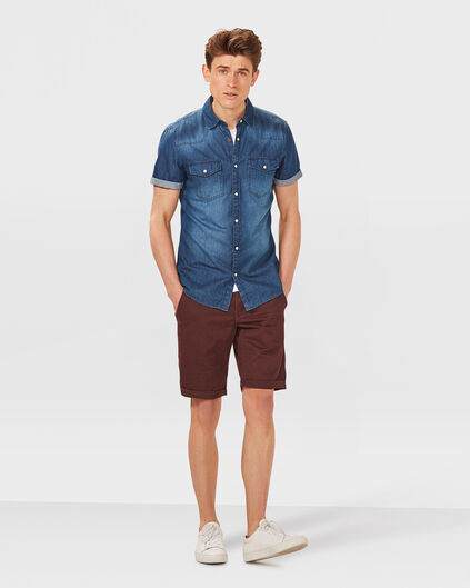 HERREN-REGULAR-FIT-CHINO-SHORTS Weinrot