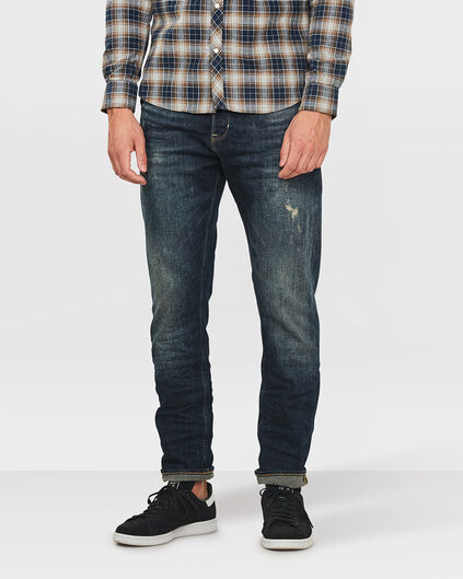 HERREN-LOOSE-FIT-COMFORT-STRETCHJEANS MIT TAPERED LEG Dunkelblau