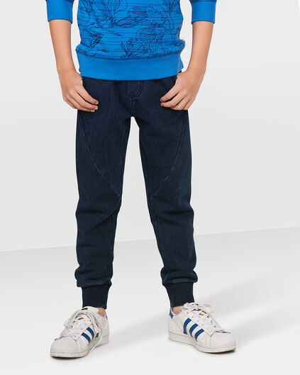 JUNGEN-SWEATHOSE IN GARMENT-DYE-OPTIK Blau