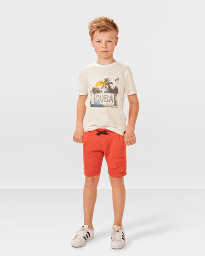 JUNGEN-SWEATSHORTS Orange