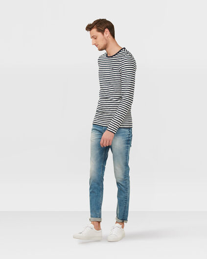 HERREN-STRETCH-JEANS MIT TAPERED LEG Hellblau