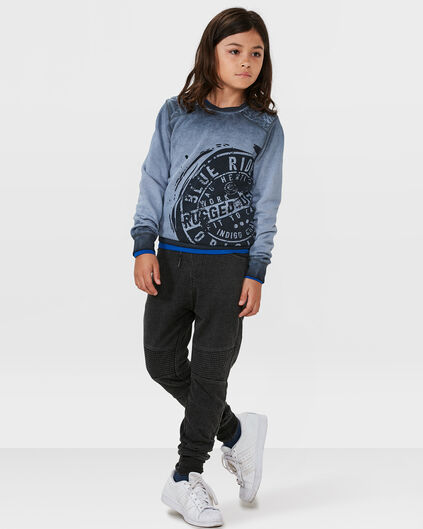 JUNGEN-SWEATSHIRT IN GARMENT-DYE-OPTIK Grau