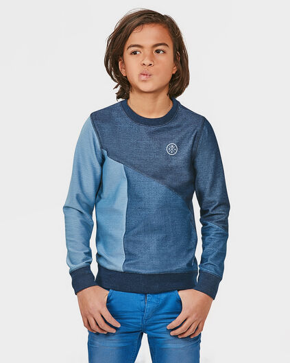 JUNGEN-SWEATSHIRT IN JEANS-OPTIK Blau
