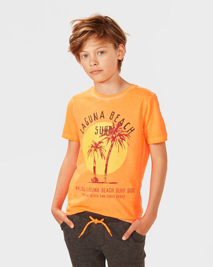 "JUNGEN-T-SHIRT ""LAGUNA BEACH"" Orange"