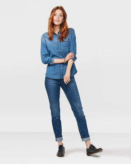 DAMEN-MID-RISE-SLIM-STRAIGHT-RECOVERY-JEANS Dunkelblau