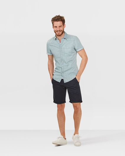 HERREN-REGULAR-FIT-CHINO-SHORTS Dunkelblau
