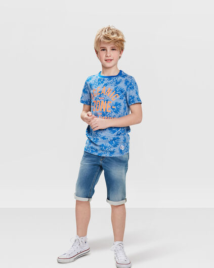 JUNGEN-JOG-DENIM-SHORTS Blau