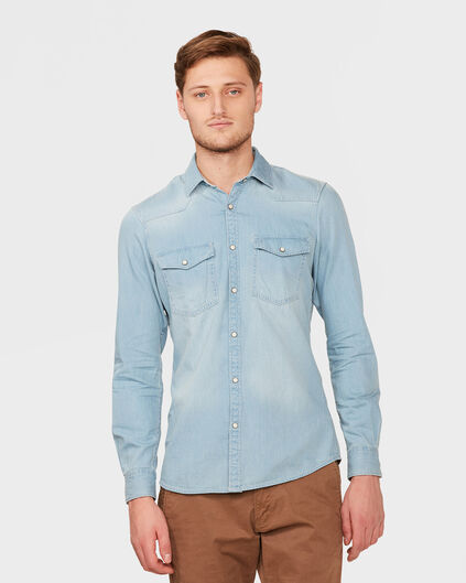 BLUE RIDGE HERREN-SLIM-FIT-HEMD Hellblau