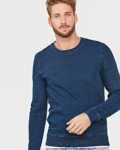 HERREN-SWEATSHIRT IN INDIGO-DYE-OPTIK Indigo