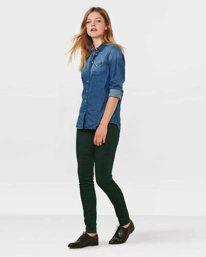 DAMEN-SLIM-FIT-HOSE Dunkelgrün