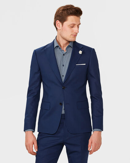 ULTRA-SLIM-FIT-HERRENSAKKO WYATT Knallblau