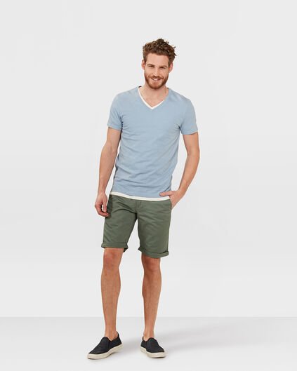 HERREN-REGULAR-FIT-CHINO-SHORTS Armeegrün