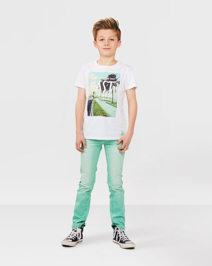 JUNGEN-SKINNY-FIT-HOSE IN GARMENT-DYE-OPTIK Mintgrün