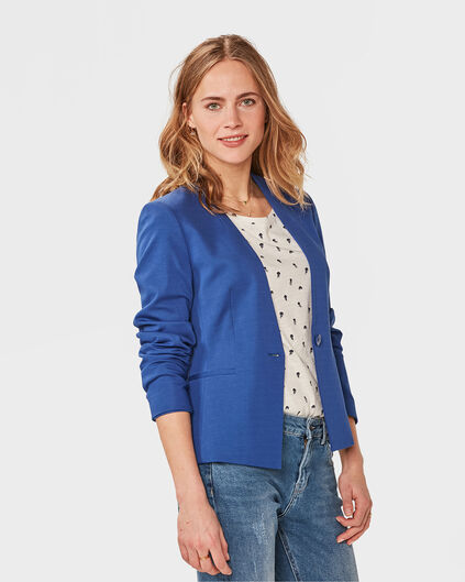 DAMEN-SLIM-FIT-BLAZER Kobaltblau
