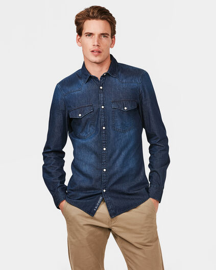 BLUE RIDGE HERREN-SLIM-FIT-HEMD Blau