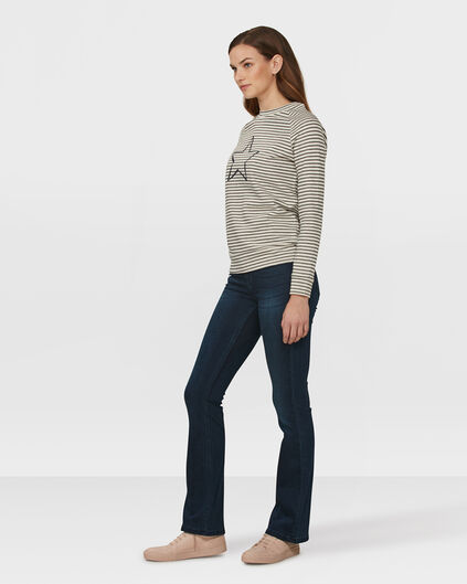 DAMEN-HIGH-RISE-SKINNY-FLARE-RECOVERY-JEANS Dunkelblau