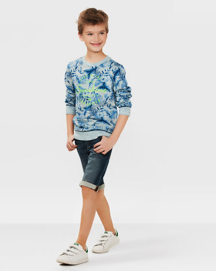 JUNGEN-JOG-DENIM-SHORTS IM SLIM-FIT Blau