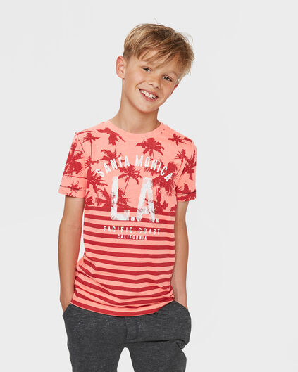 "JUNGEN-T-SHIRT MIT ""SANTA MONICA""-PRINT Orange"