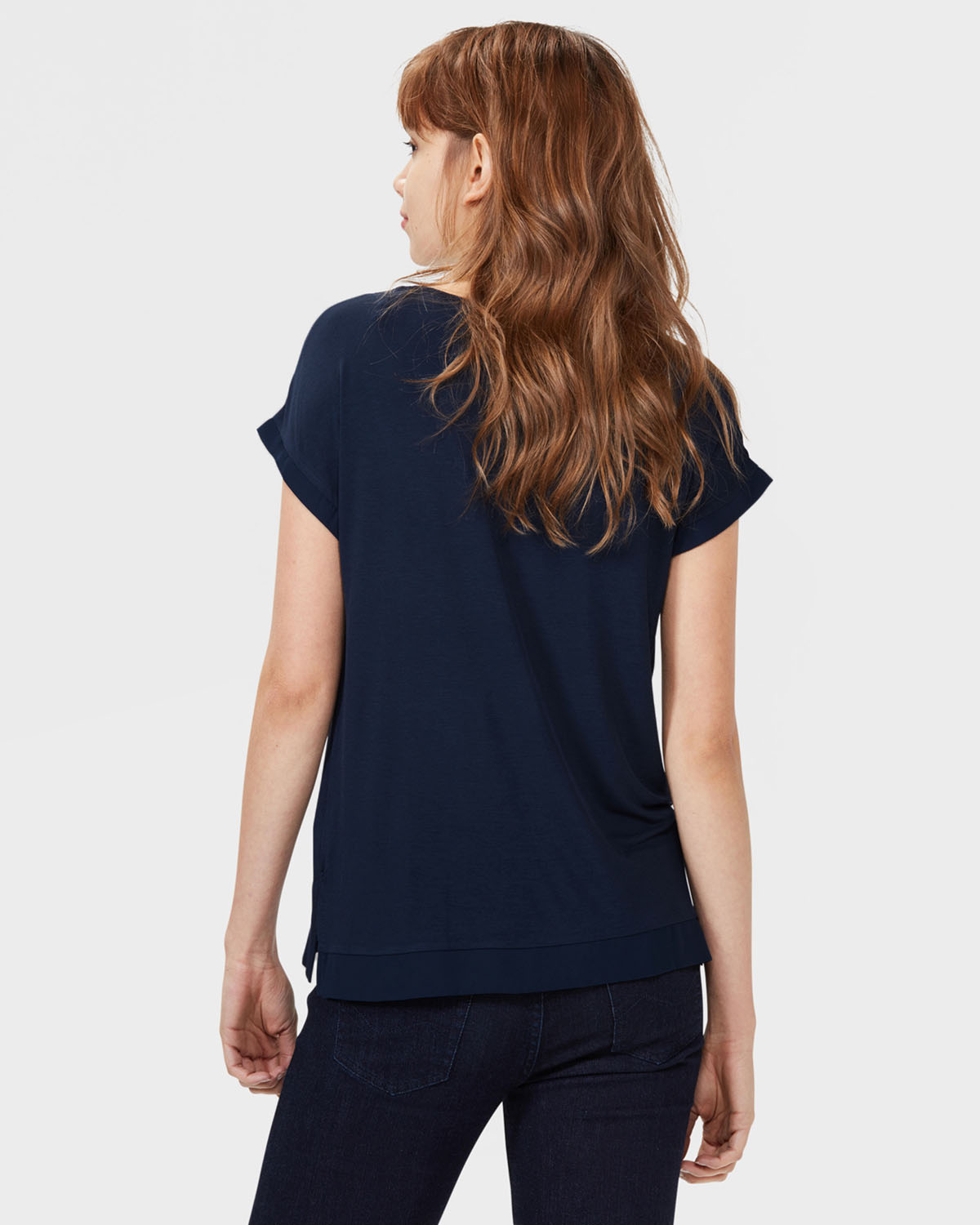 damen t shirt mit v ausschnitt 79207201 we fashion. Black Bedroom Furniture Sets. Home Design Ideas