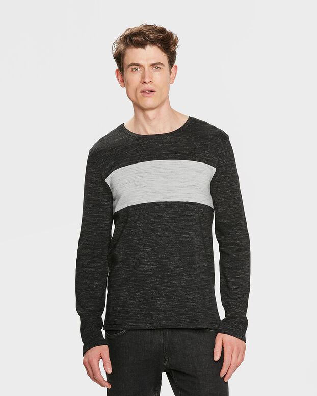 HERRENSHIRT MIT COLORBLOCKING Schwarz