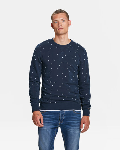 HERREN-SWEATSHIRT MIT BLUE-RIDGE-LOGOPRINT Marineblau