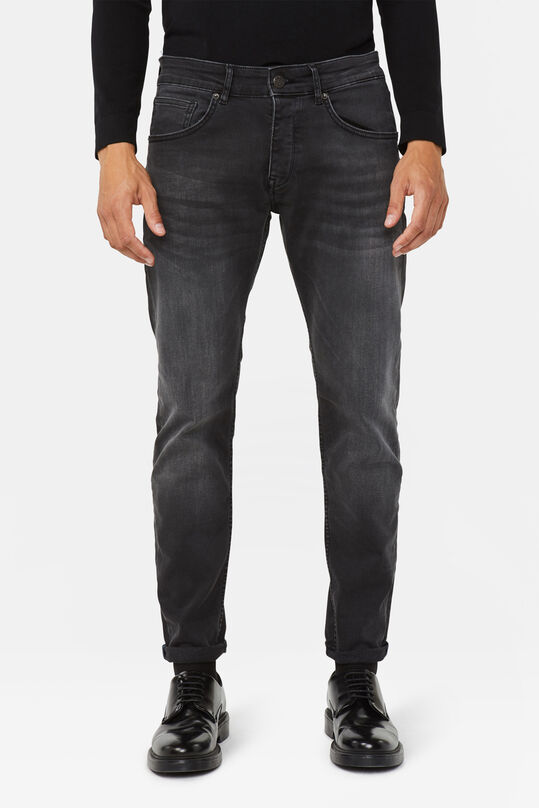 Herren-Slim-Fit-Jeans mit Tapered Leg Schwarz