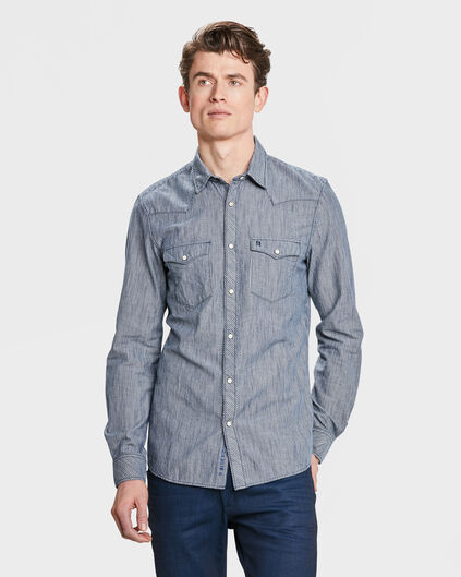 BLUE RIDGE SLIM-FIT-HERRENHEMD Blau