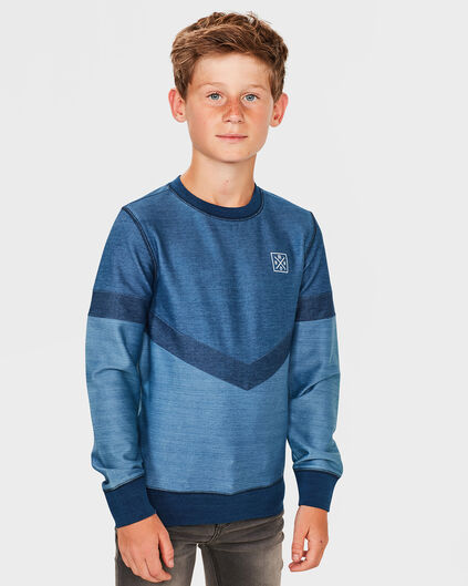 JUNGEN-SWEATSHIRT IN COLORBLOCK-OPTIK Blau