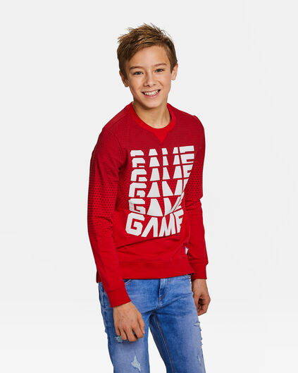 "JUNGEN-SWEATSHIRT ""GAME OVER"" Rot"