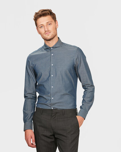 HERREN-SLIM-FIT-OXFORDHEMD Dunkelblau