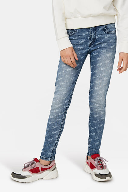 Mädchen-Relaxed-Fit-Jeans Blau