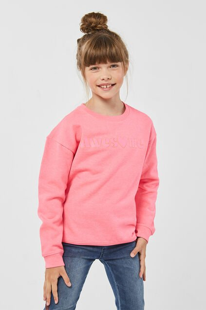 "Mädchen-Sweatshirt ""Awesome"" Rosa"