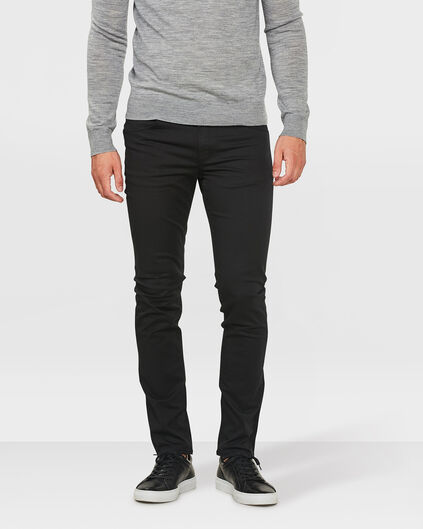 HERREN-SUPERSTRETCH-HOSE MIT TAPERED LEG Schwarz