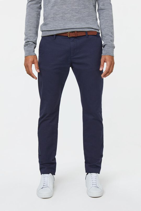 Herren-Skinny-Fit-Chino Marineblau