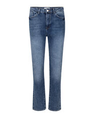 DAMEN-STRAIGHT-FIT-JEANS MIT HOHER TAILLE_DAMEN-STRAIGHT-FIT-JEANS MIT HOHER TAILLE, Blau