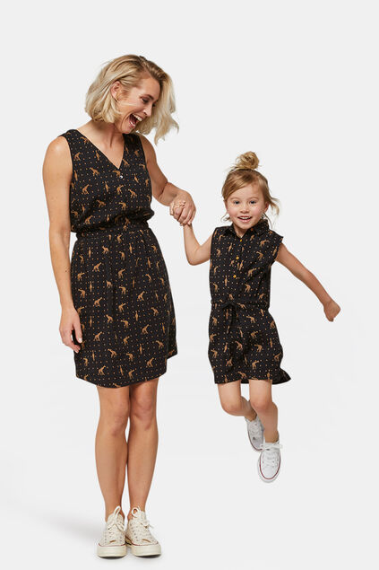 Mini Me: kleid mit Animal-Print