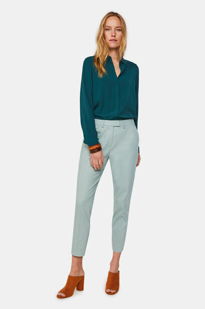 Damen-Slim-Fit-Chinos Mintgrün