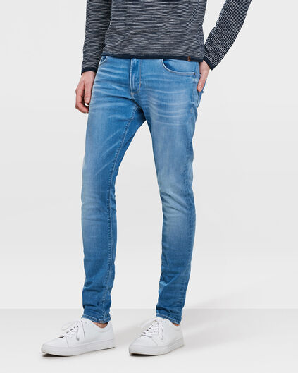 HERREN-SUPER-SKINNY-JEANS AUS SUPERSTRETCH Blau
