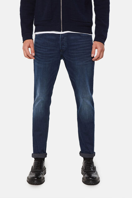 Herren-Slim -Jeans mit Superstretch Dunkelblau