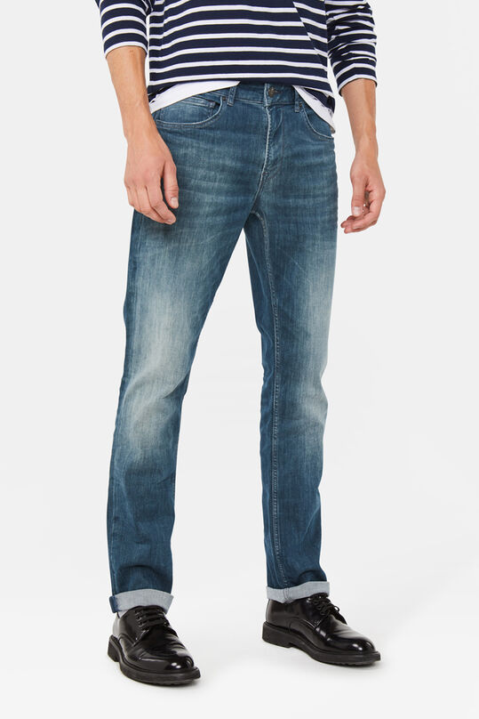 Herren-Regular-Fit-Jeans aus Super-Stretch Graublau