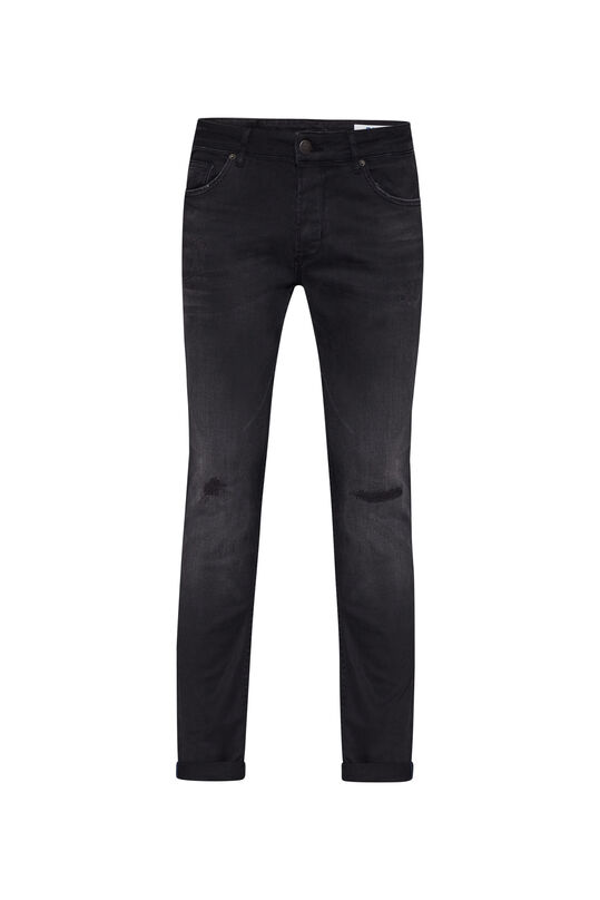 Herren-Slim-Fit-Jeans aus Comfort-Stretch mit Tapered Leg Schwarz