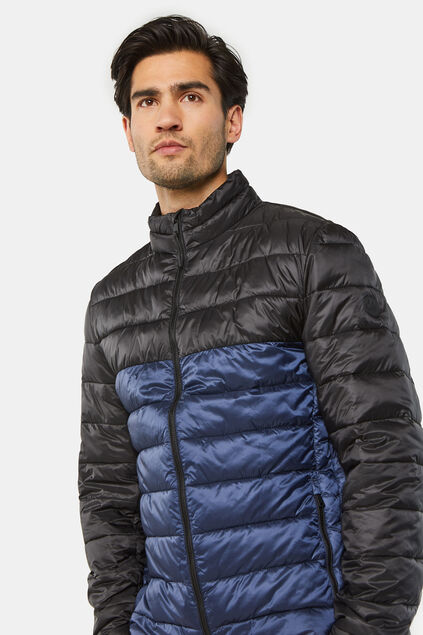 Herren-Steppjacke in Colourblock-Optik Dunkelblau
