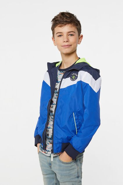 Jungen-Windjacke in Colourblock-Optik Blau