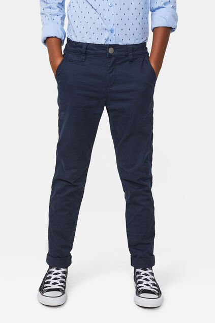 Jungen-Slim -Fit-Chinos Marineblau