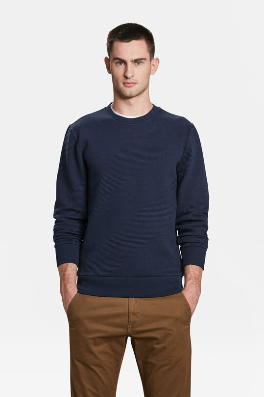 HERREN-SWEATSHIRT IN RIPP-OPTIK Blau