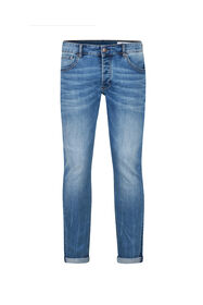 Herren-Slim-Fit-Jeans mit Tapered Leg_Herren-Slim-Fit-Jeans mit Tapered Leg, Hellblau