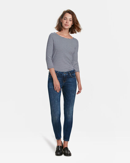 DAMEN-SKINNY-JEANS AUS HIGH-STRETCH-DENIM Dunkelblau