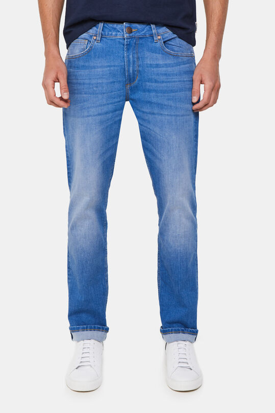 Herren-Regular-Fit-Jeans mit Superstretch Blau